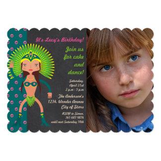 Convite brasileiro da foto da festa de aniversário