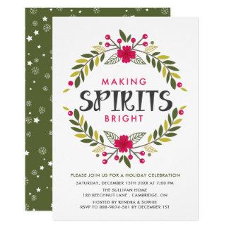 Convite brilhante da festa natalícia dos espírito