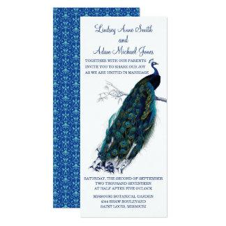 Convite brilhante do casamento do pavão