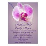 Convite brilhante roxo do casamento da orquídea