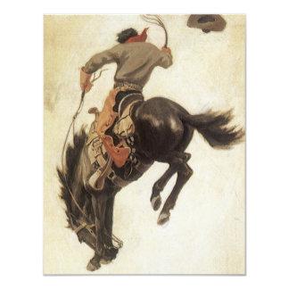 Convite Bucking do cavalo do bronco do vaqueiro do