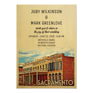 Convite Califórnia do casamento de Sacramento