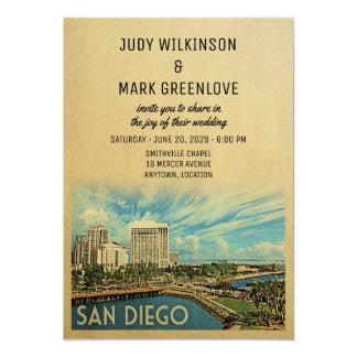 Convite Califórnia do casamento de San Diego
