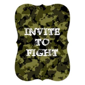 Convite camuflado customizável lutar o zombi