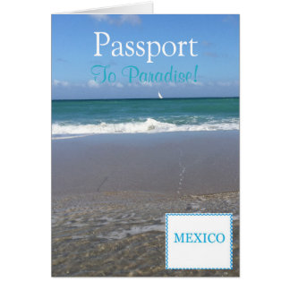 """Convite Card 5.6"""" x 4 do passaporte"""