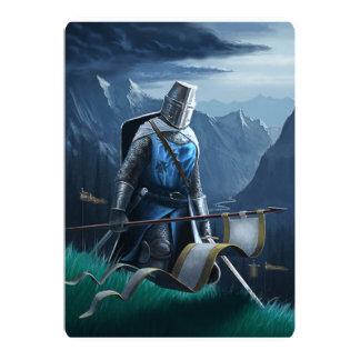 Convite/cartão do cavaleiro convite 12.7 x 17.78cm
