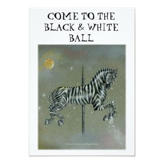 Convite - cartões do anúncio - zebra do carrossel