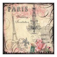 Casamento chique da torre Eiffel & do candelabro