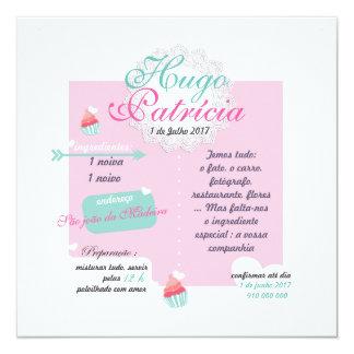 Convite Casamento Receita Cupcake