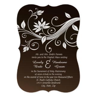Convite católico castanho chocolate irrisório do