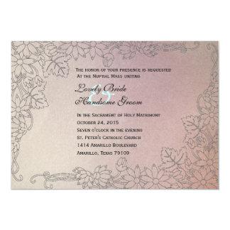 Convite católico desvanecido do casamento do Lilac