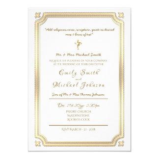 Convite católico do casamento - formal - com verso