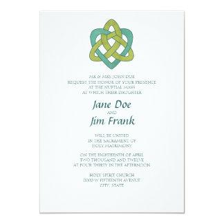 Convite católico formal celta do casamento