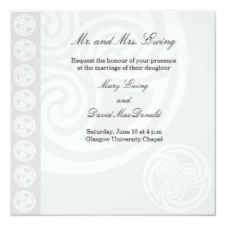 Convite celta tradicional do casamento