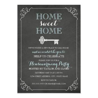 Convite chave do Housewarming do quadro do vintage