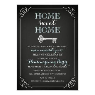 Convite chave doce do Housewarming do quadro
