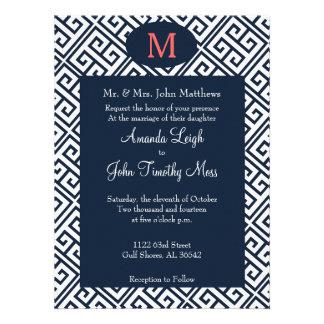 Convite chave grego do casamento