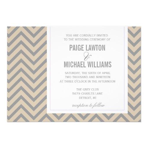 Convite | Chevron do casamento