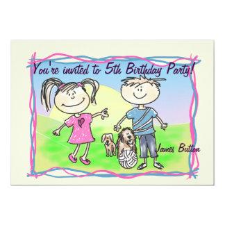Convite childparty dos desenhos animados do
