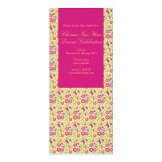 Convite chinês 3 do ano novo do Batik floral de
