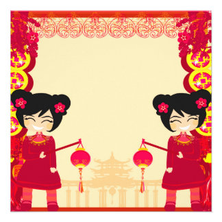Convite chinês do ano novo