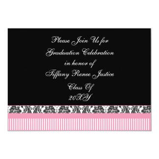 convite chique cor-de-rosa da festa de formatura