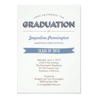 Convite chique da graduação da celebração convites