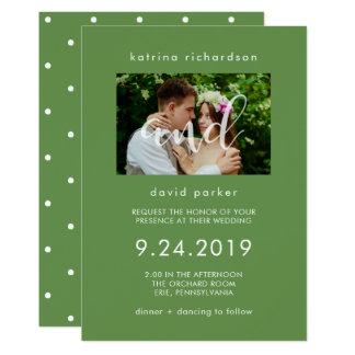 Convite chique do casamento da foto das hortaliças