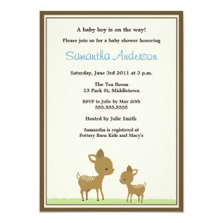 Convite chique do chá de fraldas dos cervos -