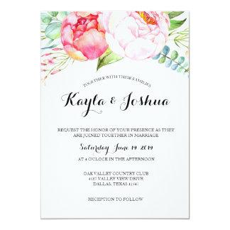 Convite chique floral