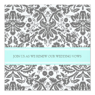 Convite cinzento da renovação do voto de casamento