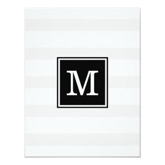 Convite cinzento e branco simples do casamento da