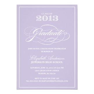 Convite clássico da graduação convite 12.7 x 17.78cm