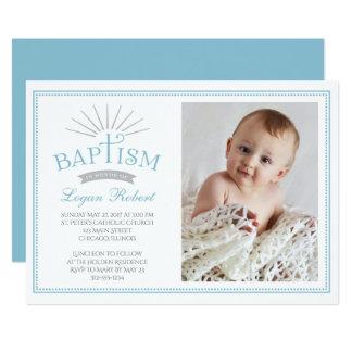 Convite clássico do baptismo da foto do esplendor