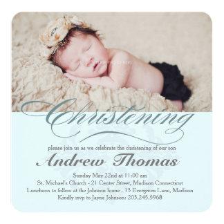 Convite clássico do baptismo do batismo