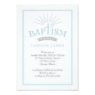 Convite clássico do baptismo do esplendor