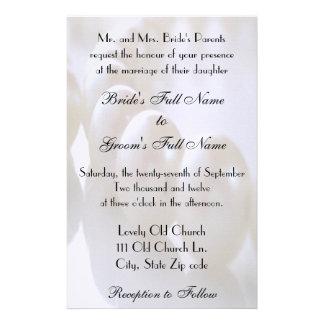 Convite clássico do casamento da colar da pérola papelaria