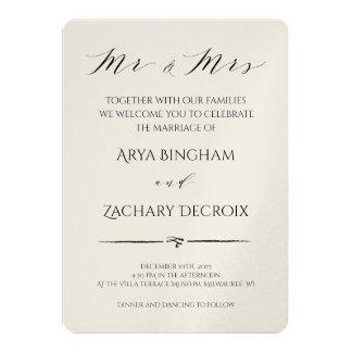 Convite clássico do casamento de Champagne