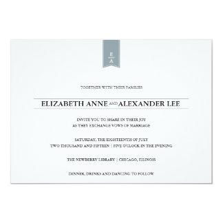 Convite clássico do casamento de prata dos