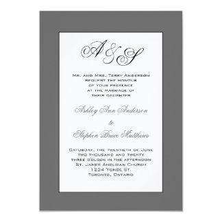 Convite clássico do casamento do monograma