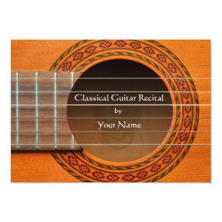 Convite clássico do considerando da guitarra