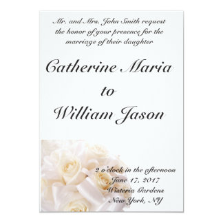 Convite clássico simples do casamento