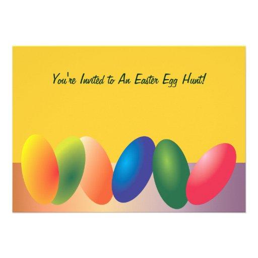 Convite colorido dos ovos da páscoa