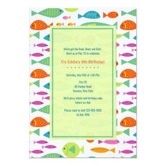 Convite colorido dos peixes