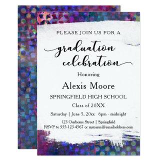 Convite colorido, original da festa de formatura