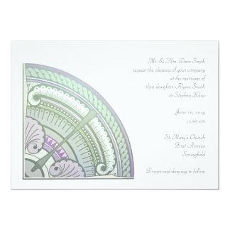 Convite com design do nouveau da arte no lilac &