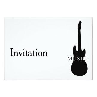 Convite com guitarra