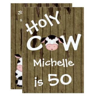 Convite cómico do aniversário da vaca 50th