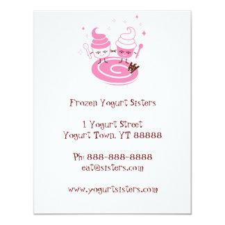 Convite congelado das irmãs do Yogurt Convite 10.79 X 13.97cm