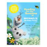 Convite congelado do aniversário de Olaf do verão